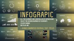 Cool Graphs, Radial Graphs, few Bar Graphs & line Graphs & timelines- Text Animations GOOD- AFTER EFFECTS Templates- $33