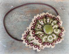 Large Flower Headband Whimsical Headpiece by GreenTrunkDesigns