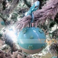 pallina stelline in fimo addobbi per albero di natale -sfere color tiffany Tiffany, Christmas Bulbs, Holiday Decor, Home Decor, Fimo, Decoration Home, Christmas Light Bulbs, Room Decor, Home Interior Design