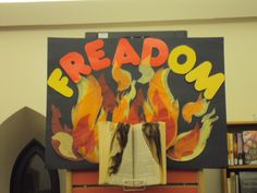 """Freedom to read' library display"
