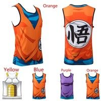 Wish | Ball Z Tank Tops Goku Gohan Cartoon Vest Yamcha Vegeta Summer Jersey 3D Sport Tops Fashion Clothing Tees Plus