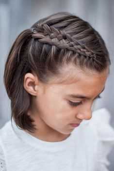 Cute Short Side Braids ❤️ We all know that over time, your kiddo gets bored with those ponytails and braids she wears every day. Let us respect her sense of fashion and vary her styling routine. See our picture gallery. ❤️ See more: http://lovehairstyles.com/cute-girls-hairstyles/ #lovehairstyles #hair #hairstyles #haircuts #braids #braidedhairstyles