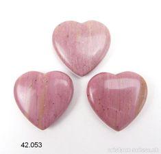 Coeur Rhodonite rose-beige 4 x 4 x 1 cm épais. Rose Beige, Missing You Love, Angels, Crystals