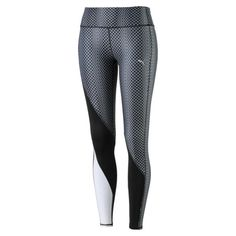 Active Training Women's Clash Tights, puma black-meta print, medium