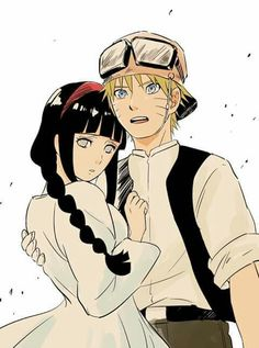 Naruto and hinata dressing as characters from laputa I think