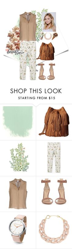 """""""From Head to Toe"""" by dindydind on Polyvore featuring Carlos by Carlos Santana, MANGO, Armani Collezioni, Gianvito Rossi, DIANA BROUSSARD and Neutrogena"""