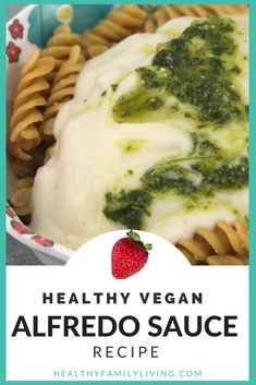 Looking for a healthy, vegan Alfredo Sauce? We're happy to report that our version is the Goldilocks sauce…it's juuuuuuust right. and #vegan!