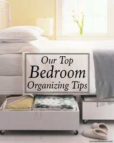 If your bedroom is small or large, these organizing ideas will help you keep everything in its place, leaving you a calm and tranquil space to relax in. Organization Station, Clutter Organization, Bedroom Organization, Organizing Your Home, Organizing Ideas, Closet Bedroom, Bedroom Decor, Master Bedroom, Relaxation Room