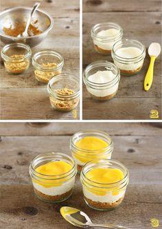 No-Bake Lemon Cheesecakes: Adding Graham Crackers & Cream