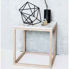 The Cube Table - white marble, Kristina Dam, 1.495 kr.