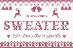 Sweater Font + BONUS by Ivan Rosenberg on @creativemarket
