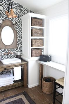 Master Bathroom Renovation- Wood look tile, the look without the worry. Solana Flooring www.solanaflooring.com