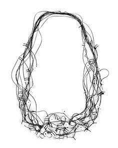 """Isabelle Hertzeisen Necklace: Résistances, 2010 Porcelain, Kevlar Project: """"Bichromie"""", 2010  via klimt02.net"""