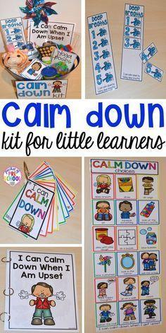Calm Down Techniques will help you teach your students strategies to calm down when they are upset. It includes a class read aloud calm down posters calm down cards yoga cards deep breaths visual book list positive notes and more! Learning Activities, Preschool Activities, Calming Activities, Preschool Classroom Centers, Preschool Themes By Month, Aba Therapy Activities, Feelings Preschool, Kindergarten Classroom Organization, Kindergarten Schedule