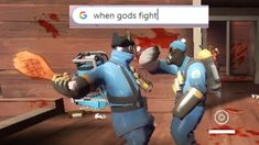 When Gods Fight Tf2 Funny, Team Fortress 2 Medic, Valve Games, Tf2 Memes, Team Fortess 2, Cartoon Fan, Gaming Memes, Funny Games, Fallout