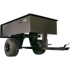 This heavy-duty steel ATV dump cart is designed for extra-large hauling jobs around the yard, farm or estate.