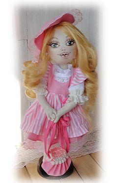 Textile doll ooak/ handmade interior doll/ long haired/ doll textile/ Soft doll…