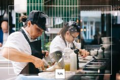A restaurant and bar featuring cuisine directly from the French Rivera brought to the heart of Vienna, especially for you. Glass Kitchen, Open Kitchen, Restaurant Kitchen, Restaurant Interior Design, Delicious Dishes, Fine Dining, Concept, Fresh, Food