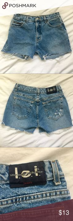 High waisted distressed denim shorts l.e.i high waisted denim shorts lei Shorts Jean Shorts