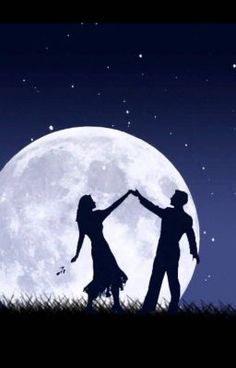 Read The eclipse of the heart from the story Dancing in the moonlight by with 119 reads. Love Canvas Painting, Painting Love Couple, Moon Painting, Love Wallpapers Romantic, Moonlight Painting, Dancing In The Moonlight, Cute Couple Wallpaper, Romantic Pictures, Silhouette Art