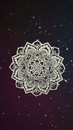 iPhone Wallpaper - Galaxy Background and White Mandala🌸 Phone Wallpapers Tumblr, Cute Tumblr Wallpaper, Tumblr Backgrounds, Cute Wallpaper For Phone, Cute Backgrounds, Cute Wallpapers, Wallpaper Backgrounds, Mandala Wallpapers, Hipster Wallpaper
