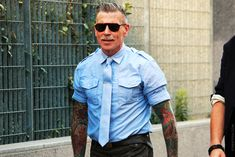 Nick Wooster says he likes to wear his tie in the same fabric as his shirt in the summer