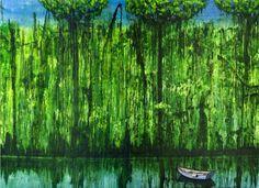 Dschungelbild III, 2011, 220 x 160 cm (zweiteilig), Acryl auf Nessel