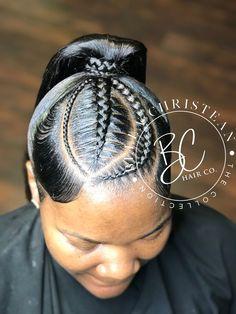 Lil Girl Hairstyles, Black Ponytail Hairstyles, African Braids Hairstyles, Baddie Hairstyles, Funky Hairstyles, Weave Hairstyles, Curly Hair Sew In, Braids For Black Hair, Curly Hair Styles