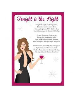 Hen Party Poem - Tonight Is The Night | 1000s of Products