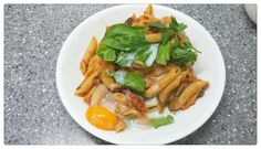 Ragu Pasta with Poached Egg – 好心人 Poached Eggs, My Recipes, Pasta, Meat, Chicken, Food, Poached Egg, Noodles, Meals