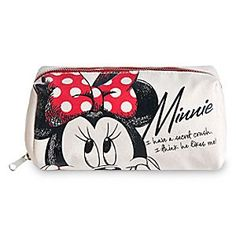 Disney Minnie Mouse Pouch   Disney StoreMinnie Mouse Pouch - Minnie dreams of her longtime crush on this trendy canvas pouch. Perfect for makeup or school supplies, this pouch boasts an eye-catching polka dot interior that matches our fashion icon's signature style.