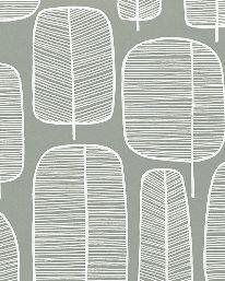 Tapet Little Trees English Grey från MissPrint