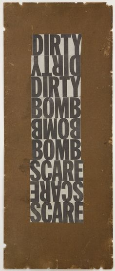 Untitled (Dirty Bomb Scare), 2007 dash snow
