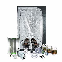 Complete 45 x 45 55x55x79 Grow Tent Package With 1000Watt HPS Grow Light  DWC Hydroponic System  Advanced Nutrients