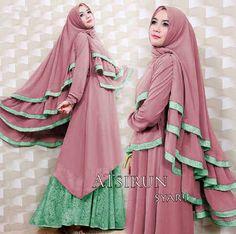 Gamis Syar'i Premium ATSIRUN PINK - http://warongmuslim.com/gamis-syari/gamis-syari-premium-atsirun-pink/