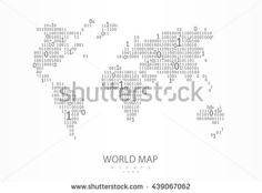 Geometric polygonal style vector map of ukraine with crimea world map consist of binary code vector background for your presentation poster website gumiabroncs Choice Image