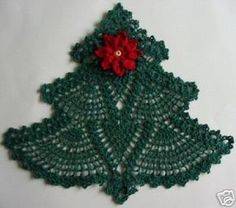 Free Crochet Christmas Doily Patterns | Christmas craft ideas: crocheted Christmas tree