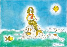 Happy+sea+mermaid by+Fausova