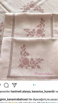 Flower Embroidery Designs, Hand Embroidery, Cross Stitch Charts, Cross Stitching, Shabby Chic, Towel, Knitting, Crochet, Cross Stitch Embroidery