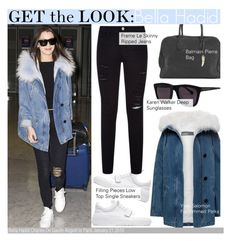 """Get The Look-Bella Hadid"" by kusja ❤ liked on Polyvore featuring Filling Pieces, Frame Denim, Paulie, Karen Walker, women's clothing, women's fashion, women, female, woman and misses"