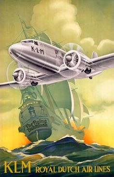 KLM Royal Dutch Air Lines The Flying Dutchman - www.MadMenArt.com features over…