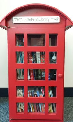 The Friends of the Addison Public Library's Little Free Library before its installation.