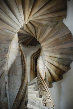 Double Spiral Staircase built in Graz Austria Beautiful Architecture, Art And Architecture, Architecture Details, Spiral Stairs Design, Staircase Design, Escalier Art, Architecture Renovation, Beautiful Stairs, Take The Stairs
