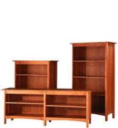 Modern Shaker Custom Open Bookcases