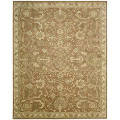 Nourison Hand-tufted Jaipur Terraco Wool Rug (2'4 x 8'), Brown, Size 2'4 x 8'