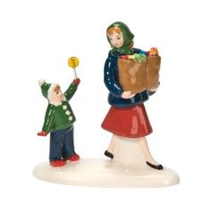 Department 56 Original Snow Village Shopping with Mom Accessory Figurine