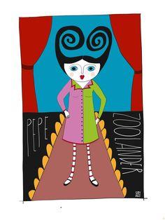 Illustration of Pepe #Zoolander by Monica Brini