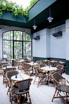 best rooftop bars in paris / bars in paris ; bars in paris france ; bars in paris drinks ; best bars in paris ; best rooftop bars in paris ; Bistro Interior, Cafe Interior, Interior Exterior, Interior Architecture, Design Bar Restaurant, Deco Restaurant, Restaurant Interiors, Plywood Furniture, Design Furniture