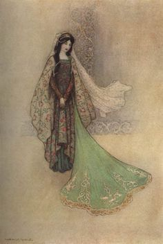 "The Flea ""The Princess as the Ogre's Bride"" - Warwick Goble"