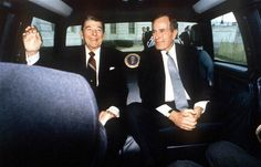 R. Regan & George Bush Sr.